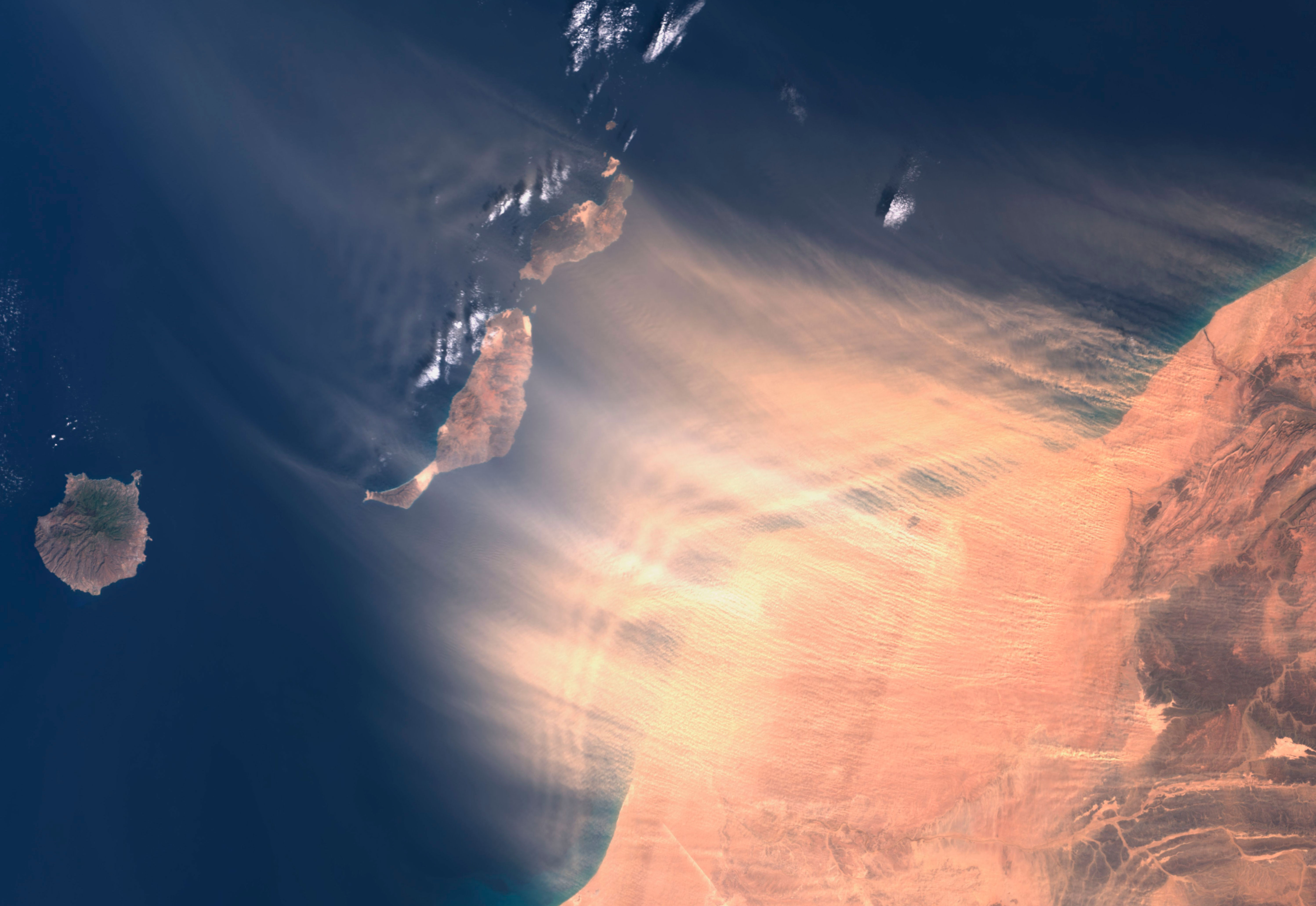 Calima en las Islas Canarias