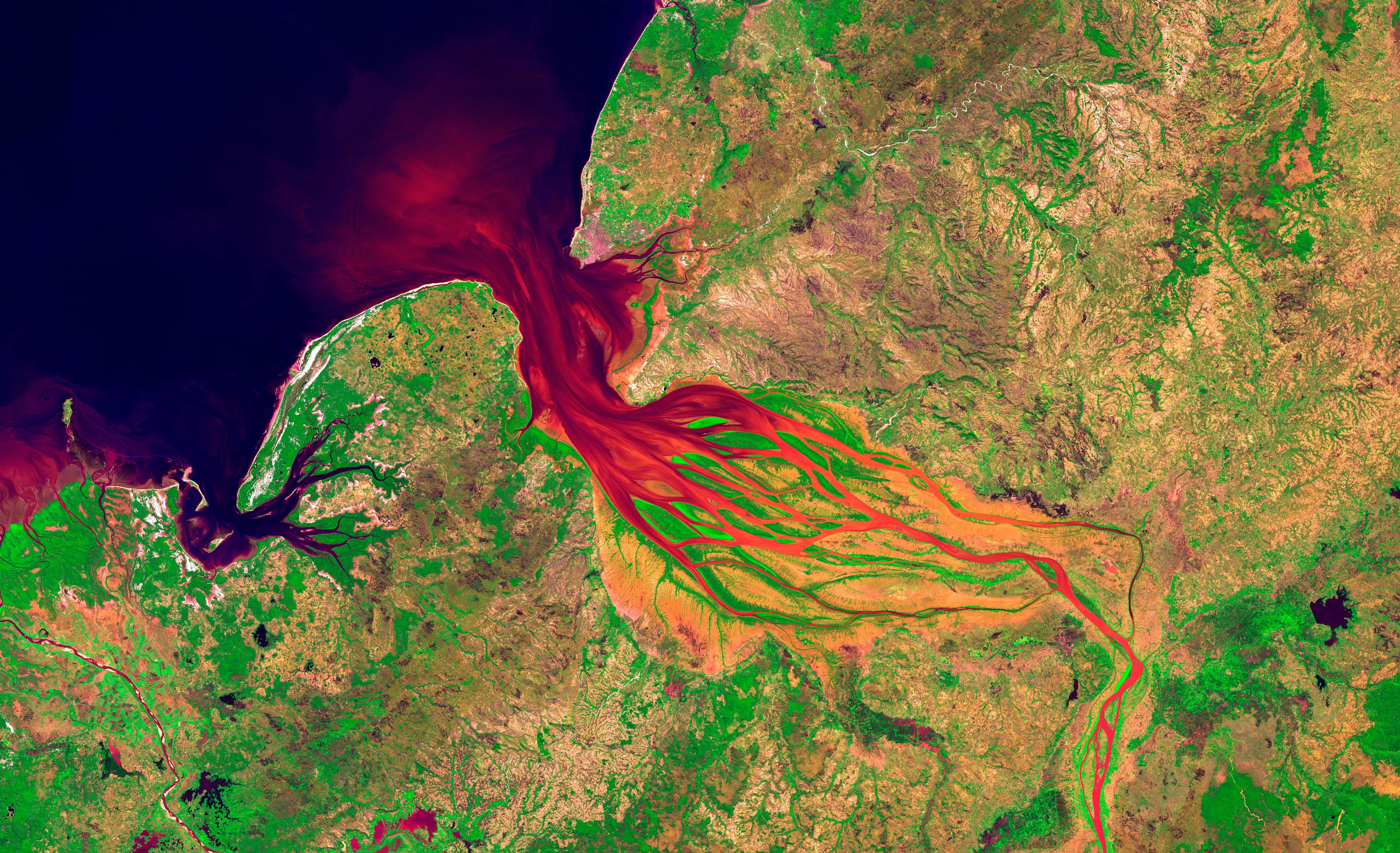 Estuario del Río Betsiboka, Madagascar