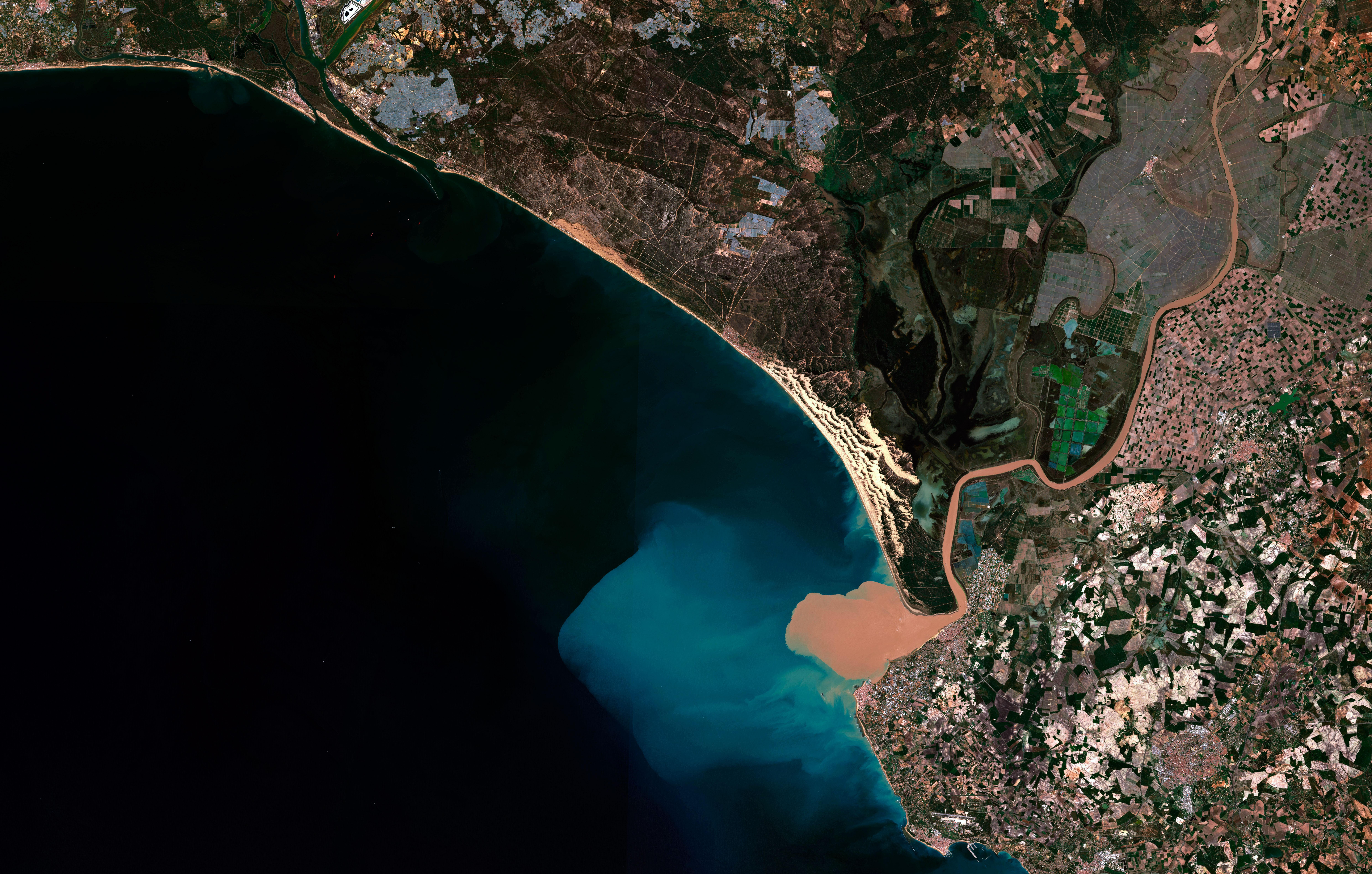 """Ramsar Doñana, Cádiz (37°2'28.58""""N, 6°29'37.52""""O), Sentinel 2 (17-04-2018)"""