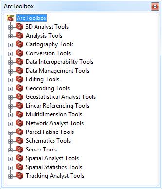 herramientas de ArcToolBox en ArcMap