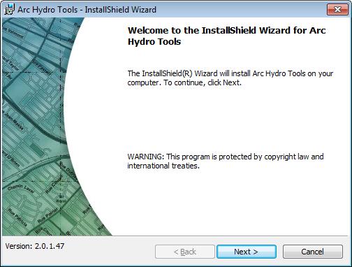 Instalación de Arc Hydro Tools