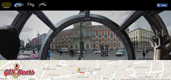 visores cartográficos divertidos STAR WARS STREETVIEW