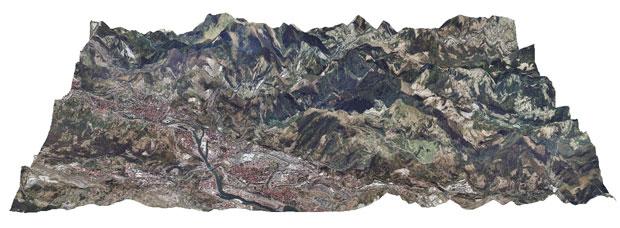 visualizar en 3d cartografia DEM