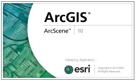 ArcScene visor cartografia 3D