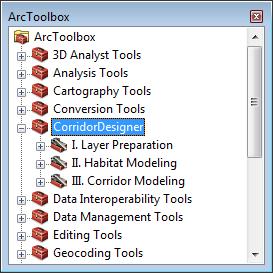 ArcToolBox y Corridor Designer