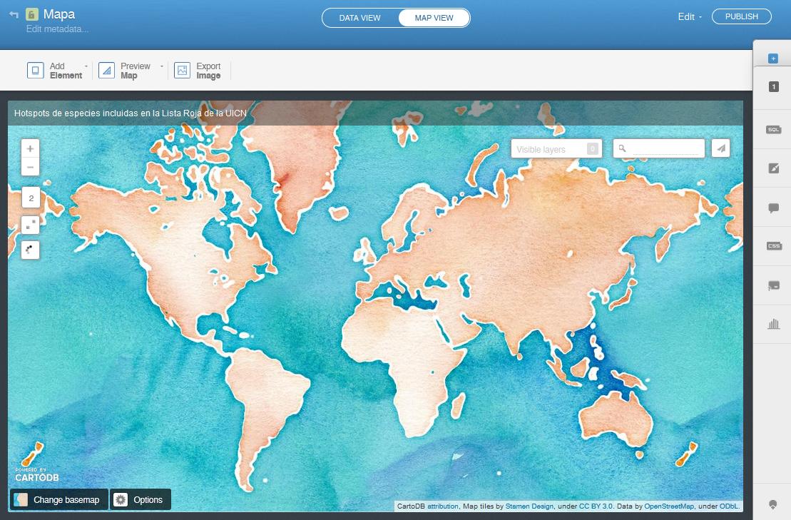 Visor de cartografia online Carto