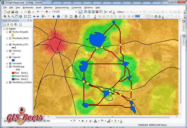 Linkage Mapper para corredores ecológicos