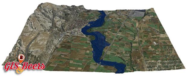 Cartografia de avenidas 3D con HecRAS y HecGeoRAS
