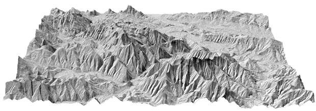 hillshade Modelos Digitales de Terreno