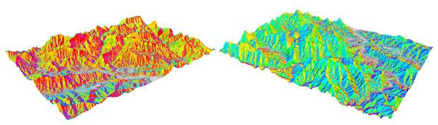 mapa de laderas DEM