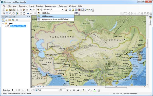 Add BaseMap para imágenes satélite