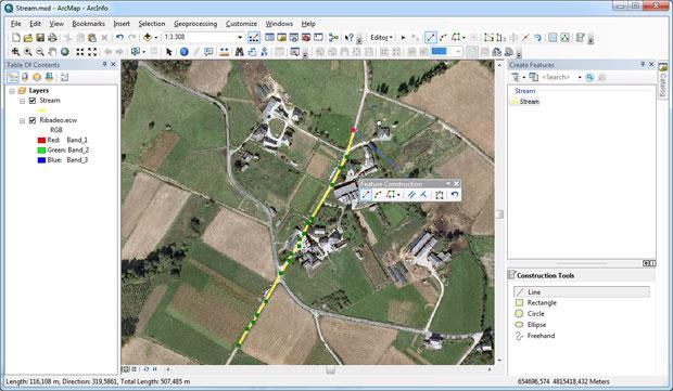 Digitalizacion en ArcMap con streaming