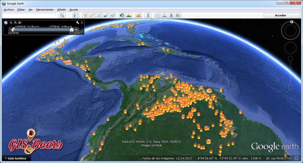 Incendios en Google Earth