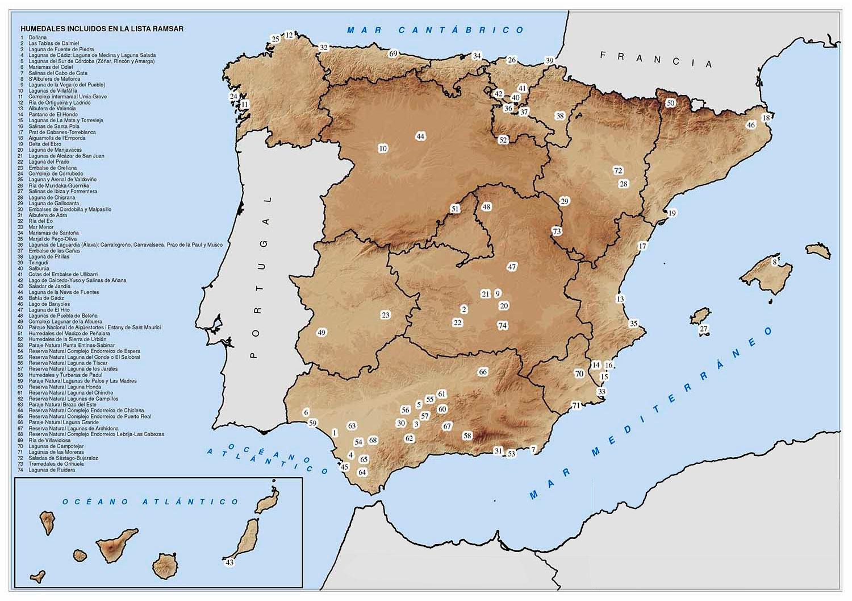 Cartografia De Humedales Espanoles Gis Beers