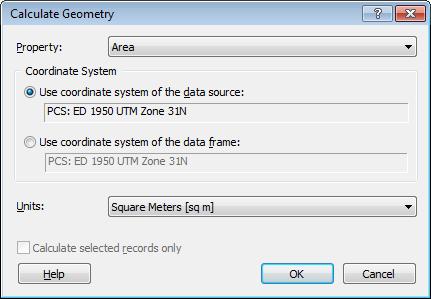 Opciones de Geometria en GIS