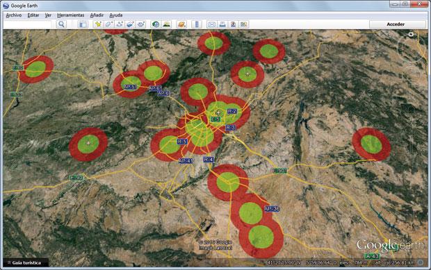 Mapa Zonas Vuelo Drones.Radios Y Zonas De Vuelo Para Drones Gis Beers