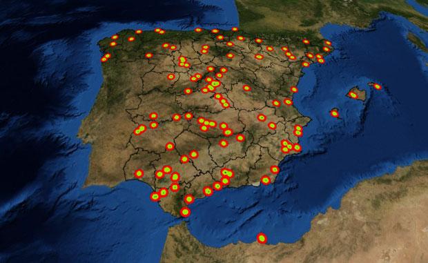 Radios y zonas de vuelo para drones