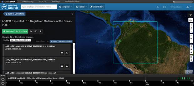 Descarga de imagenes Aster para cartografia