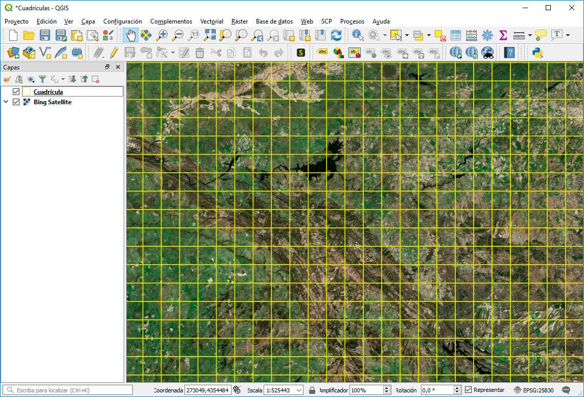 Como crear malla de cuadrículas en QGIS