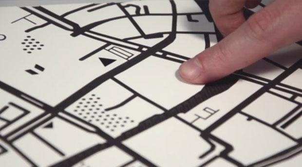 mapas para ciegos con tacto