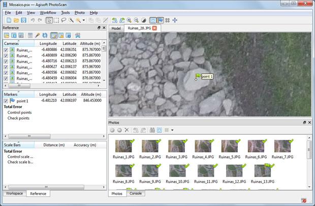 puntos de apoyo con agisoft photoscan