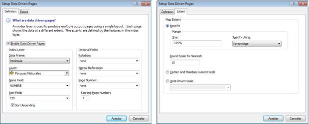 opciones de data driven pages