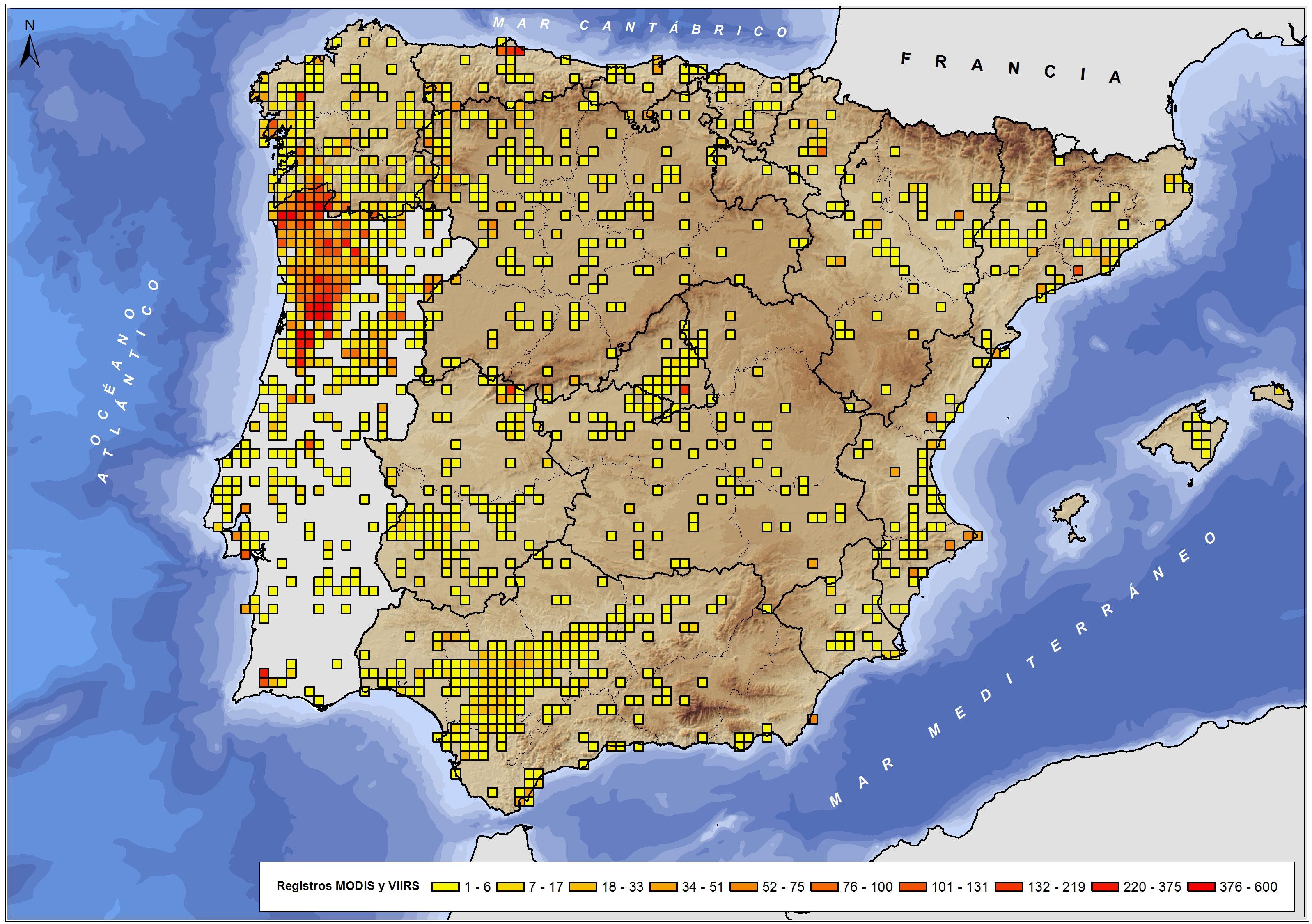 incendios españoles en 2016