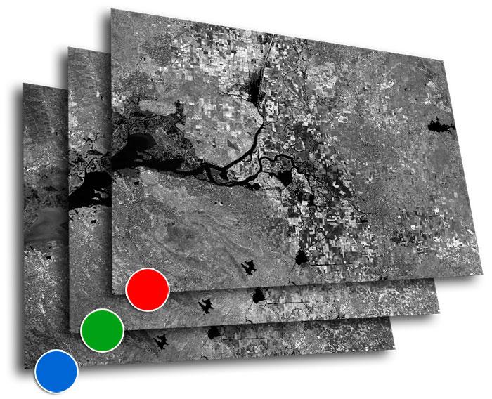 Combinación de bandas satélite RGB