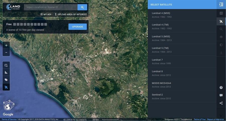 Descarga de imágenes satelitales con Land Viewer