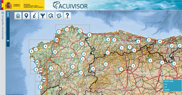 acuivisor cartografia de acuicultura