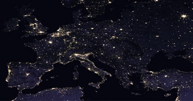 imágenes nocturnas de la tierra