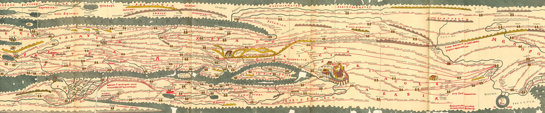 Tabula Peutingeriana mapa