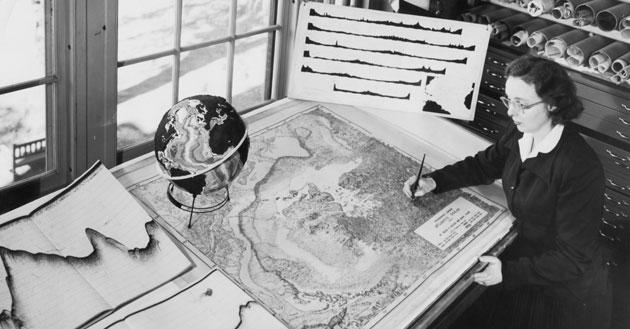 Marie Tharp y fondos oceánicos
