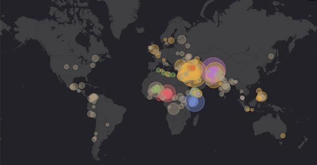 mapa mundial del terrorismo