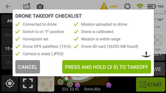 misiones circulares POI dron