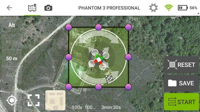 misiones circulares pix4D