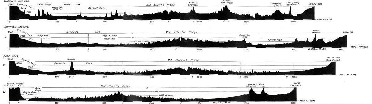 cartografía oceánica de Marie Tharp