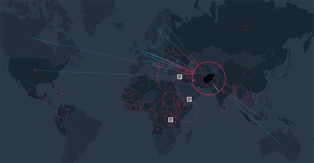 mapas de movimientos migratorios