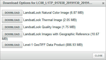 Dónde descargar imágenes satélite GloVis