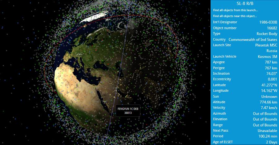 posición de satélites en vivo