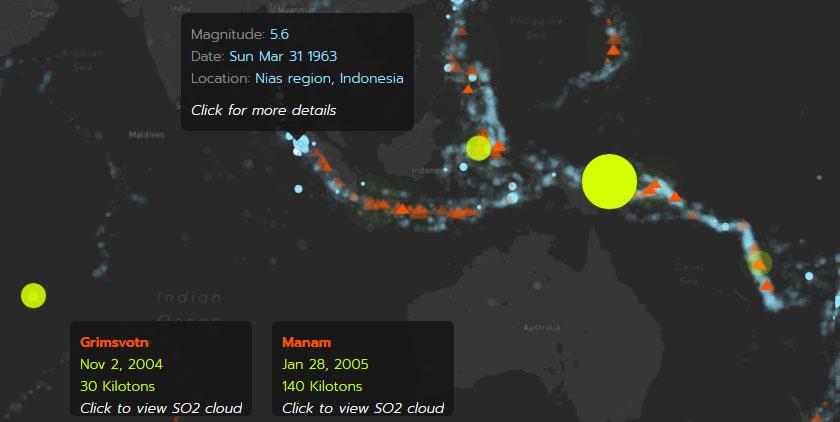Mapas y cartografía de terremotos y actividad sísmica