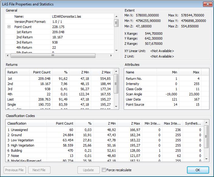 visualizar datos y archivos lidar en ArcScene y ArcGIS