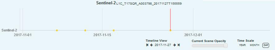 Timeline de imágenes satélite