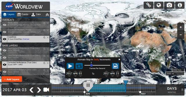 World view para descarga de imágenes satélite