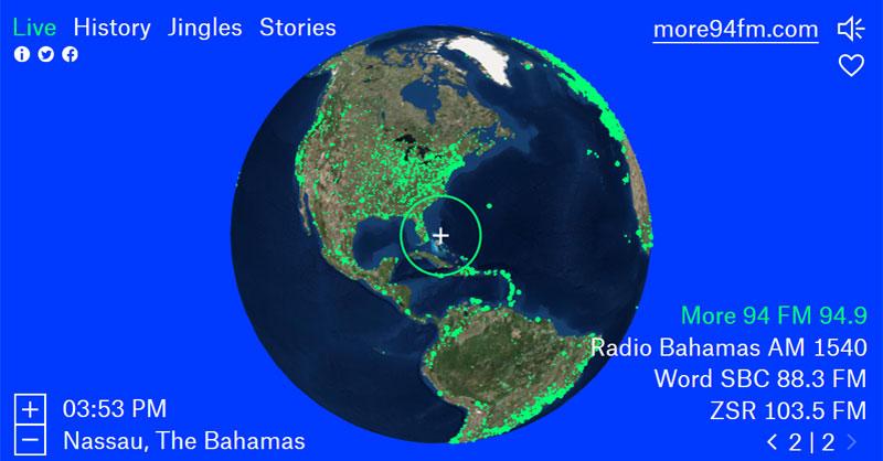 Radio Garden: música y mapas