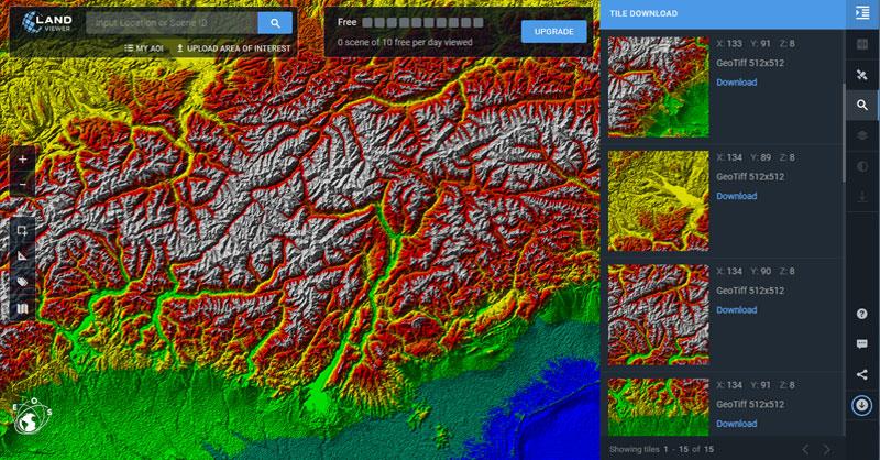 Archivos terrain para representación 3D