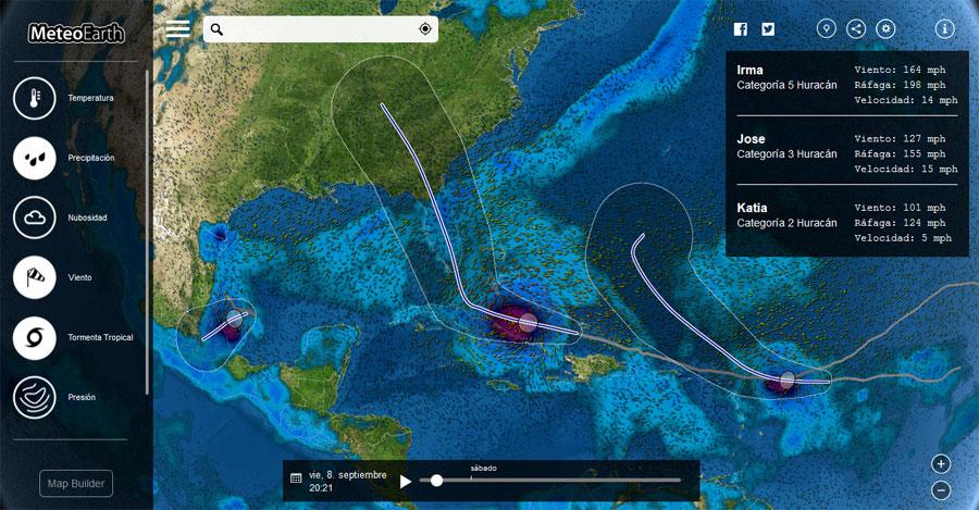 Mapas climáticos en tiempo real con MeteoEarth