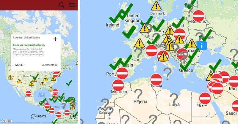 Mapa Zonas Vuelo Drones.Dronemate Otro Mapa De Legislacion Para Drones Gis Beers