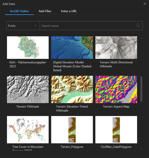 Mapas base de ArcGIS