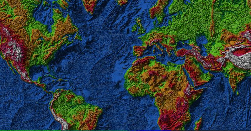 Descargar archivos terrain en Land Viewer